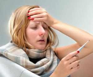 Как сбить температуру при ангине