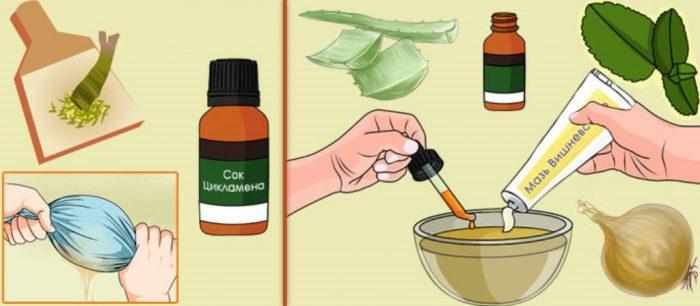 лечение гайморита мазью вишневского в домашних условиях