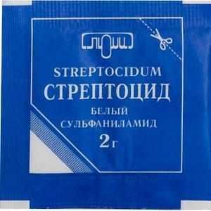 лечение насморка стрептоцидом