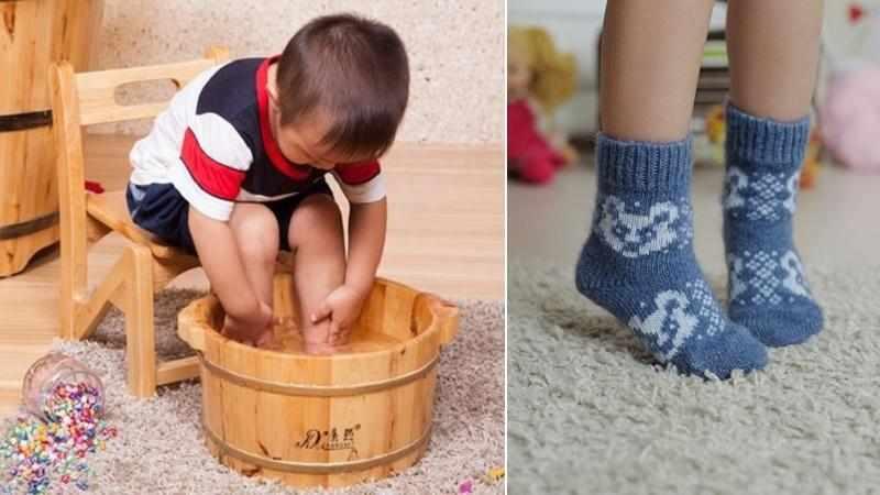 можно ли парить ноги при гайморите взрослым и детям