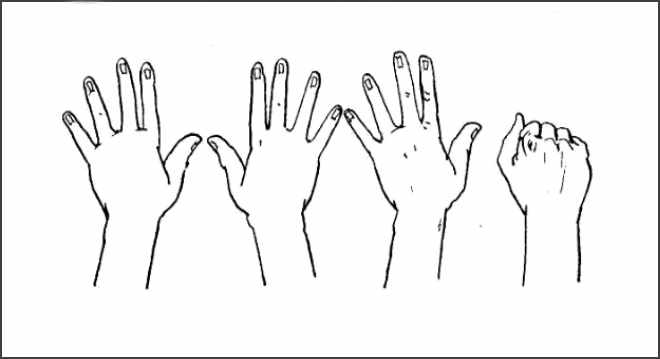 Упражнение кулачки-ладошки