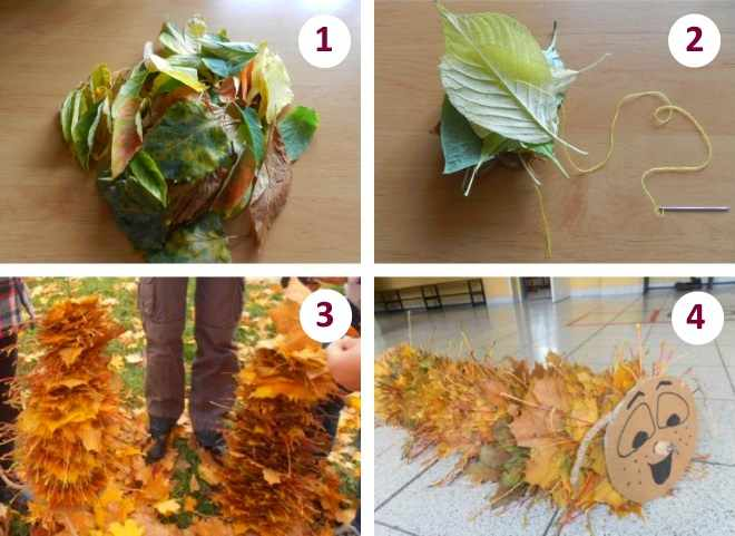 Изготовление поделки гусеницы по шагам