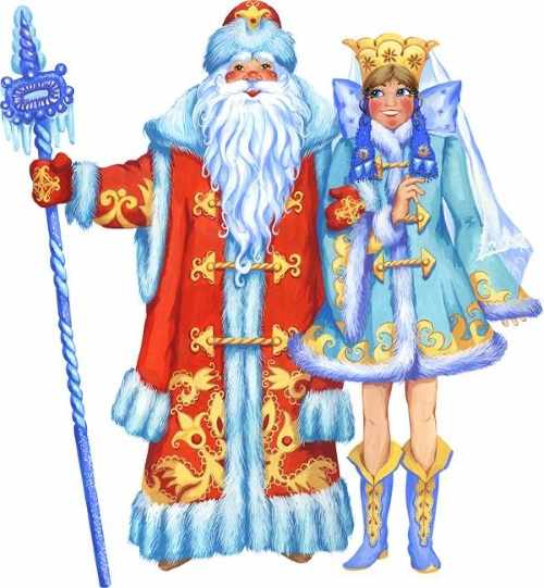Дед Мороз и Снегурочка рисунок 6