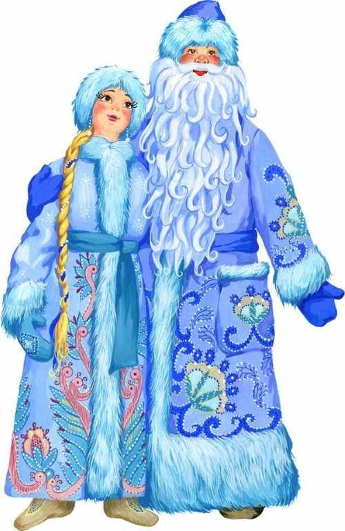 Дед Мороз и Снегурочка рисунок 5