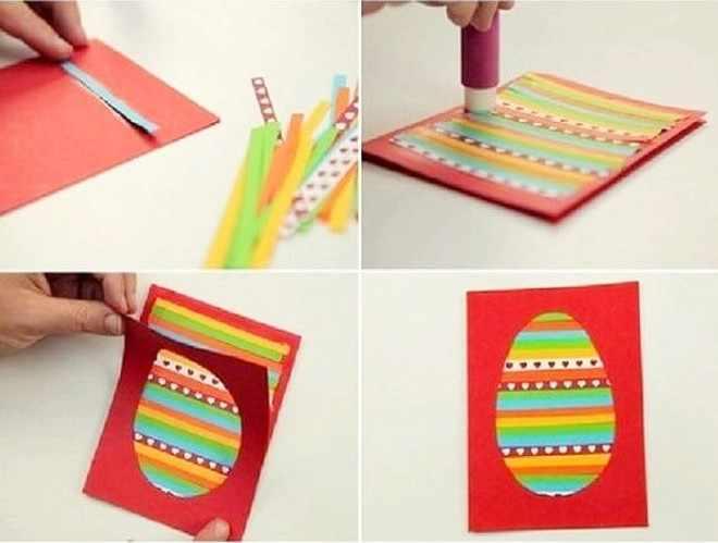 Пасхальная открытка в форме яйца
