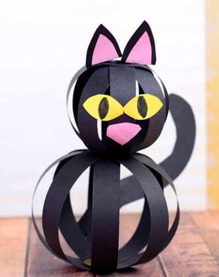 Объемный кот из бумаги