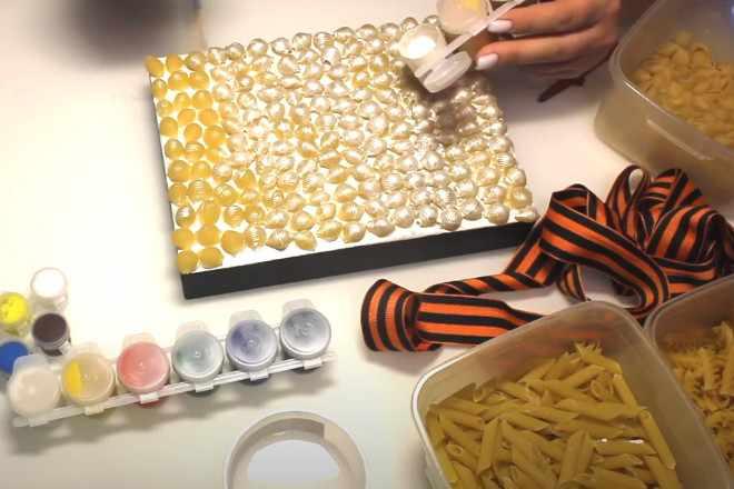 Покрасить ракушки