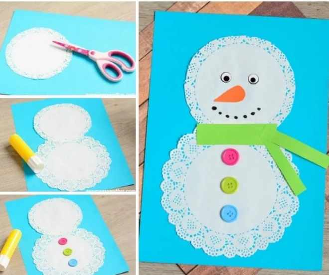Снеговик на открытке