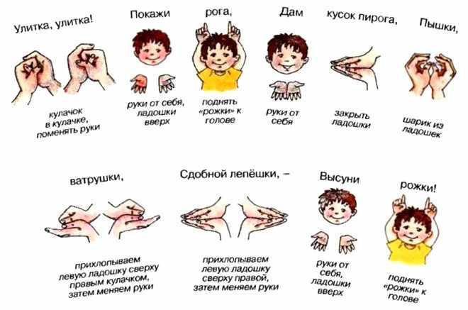Упражнения для пальчиков