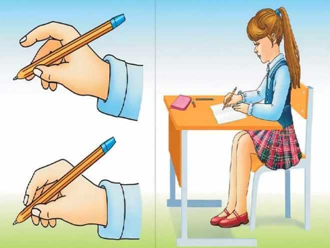 Плакат как держать ручку