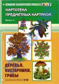 Картотека предметных картинок. Деревья, кустарники, грибы