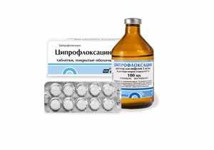 Противопоказания к применению ципрофлоксацина
