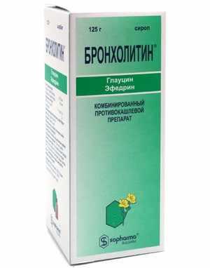 Препарат от кашля Бронхолитин