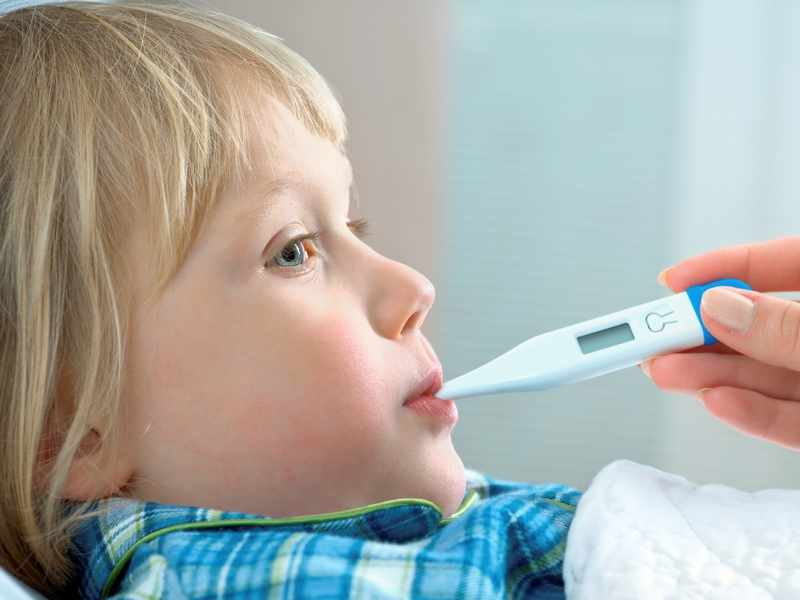 Температура у ребенка при мононуклеозе