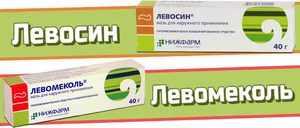 Левосин мазь против ран и воспаления на коже