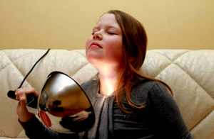 Лампа для прогревания горла в домашних условиях