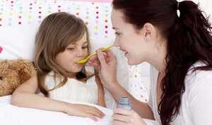 Детям аугментин дают в виде сиропа