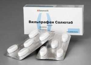 Описание свойств антибактериального антибиотика Вильпрафен солютаб